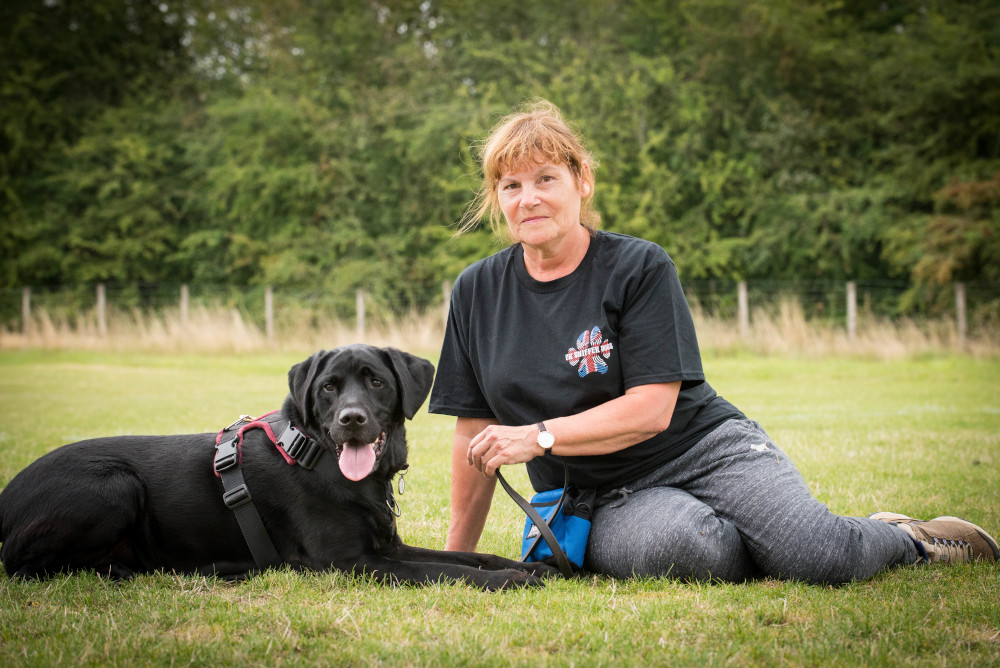 Dog Behaviour Consultant Dionne Worth with Blake